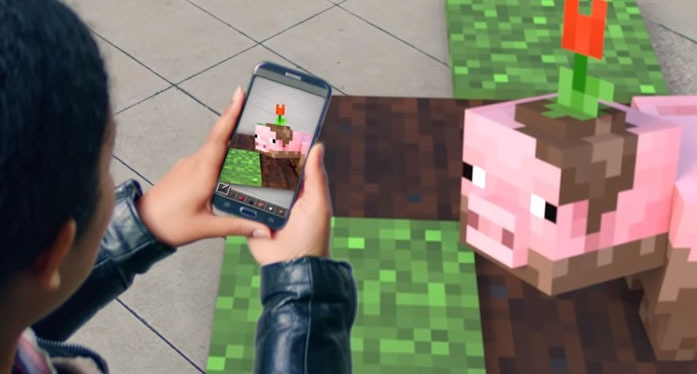 Minecraft Go - Microsoft tease a new Mobile Game in Augmented Reality
