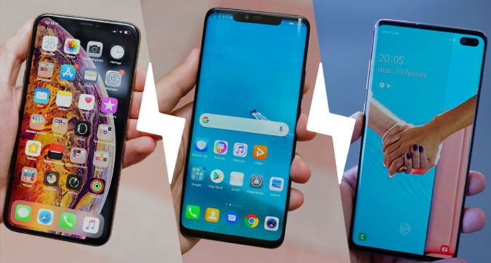 Samsung  S10 Plus vs Huawei Mate 20 Pro vs Apple iPhone XS Max