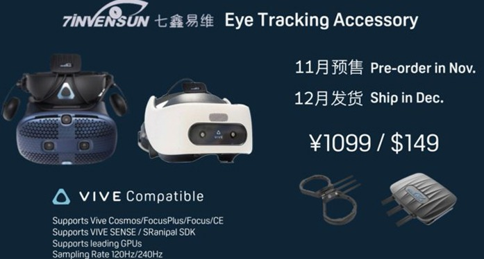 7invensun and HTC want to democratize eye-tracking